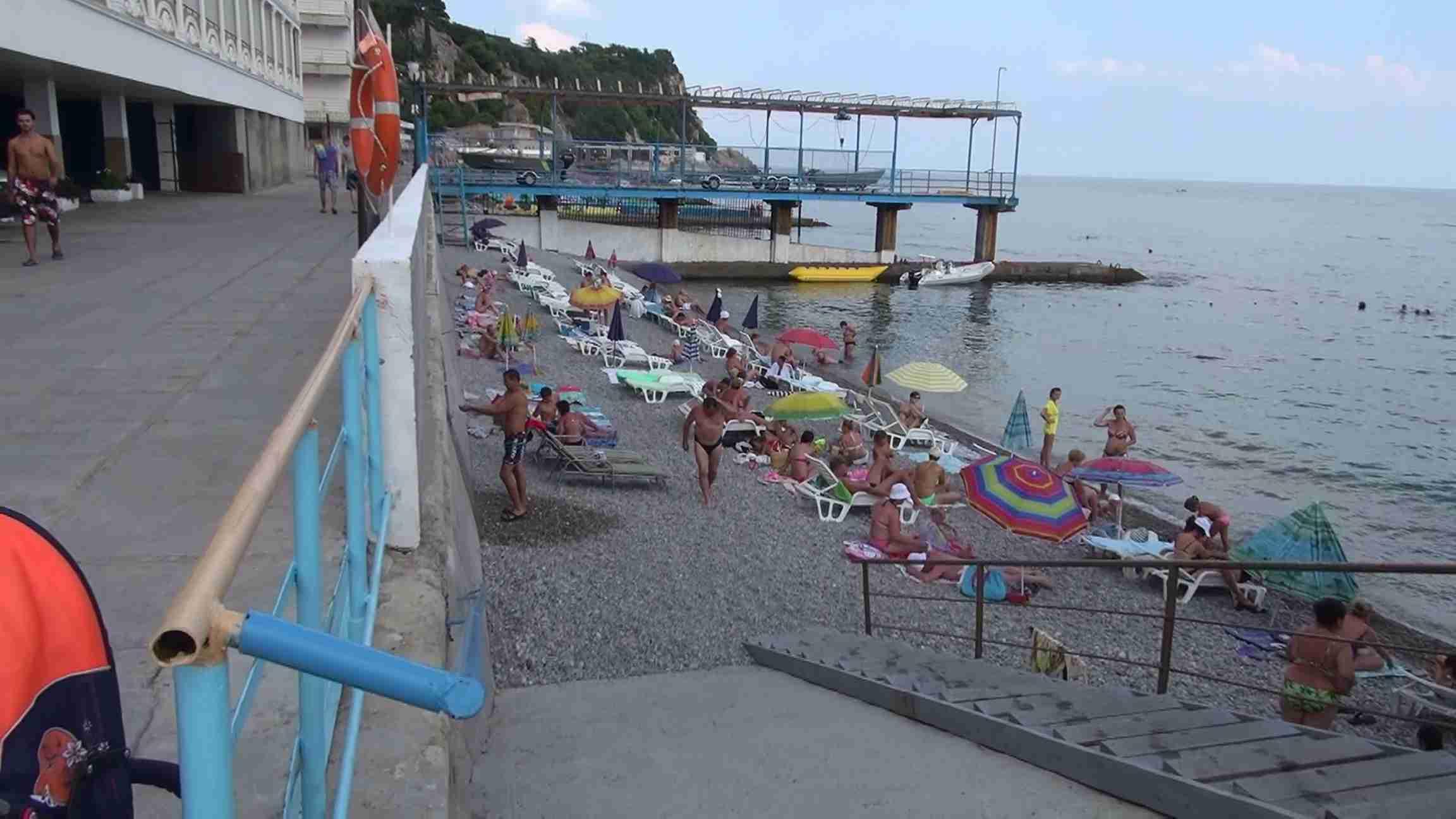 Пляж санатория Украина