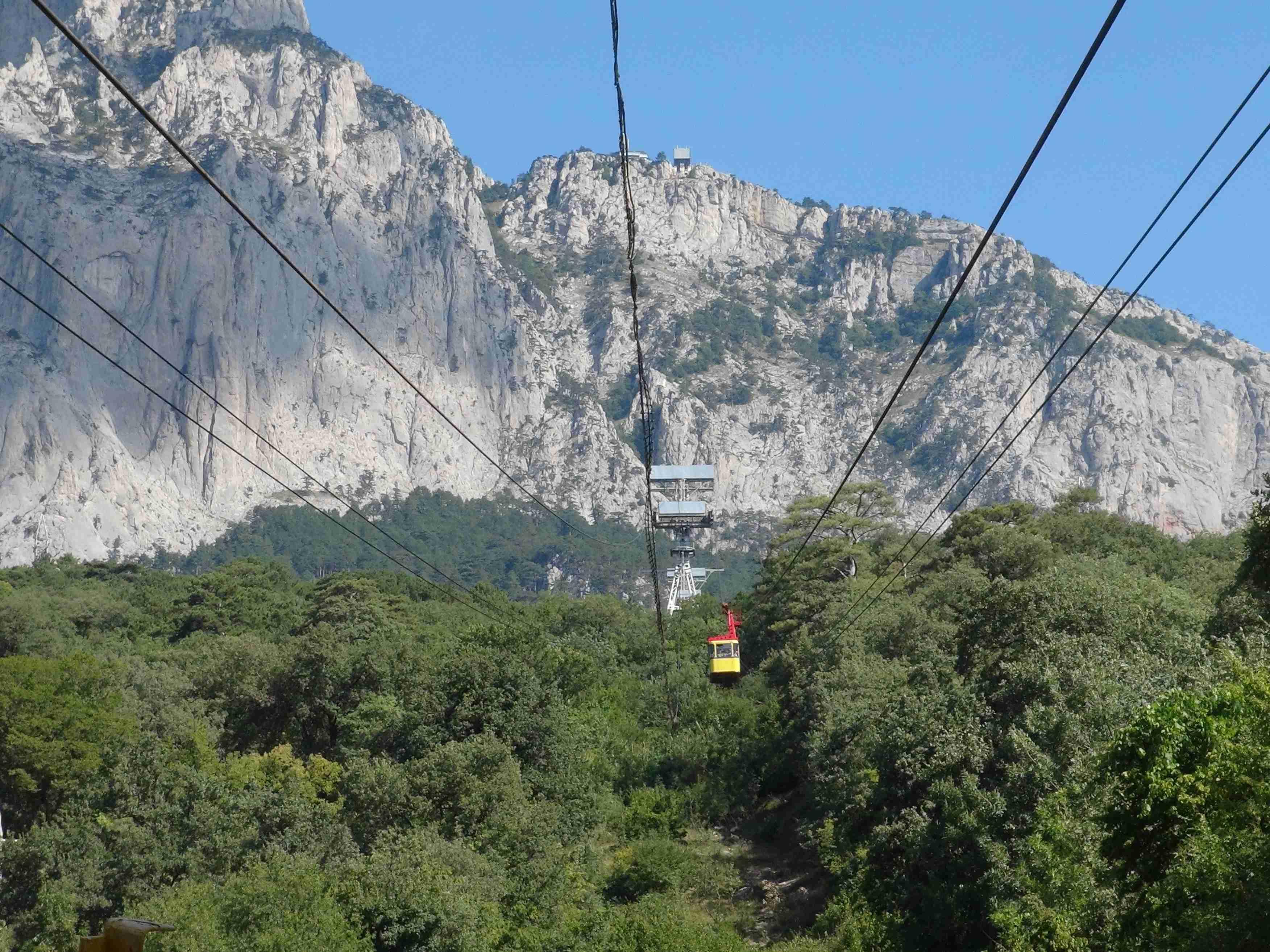 Гора Ай-Петри. Высота 1234м. надо уровнем моря.