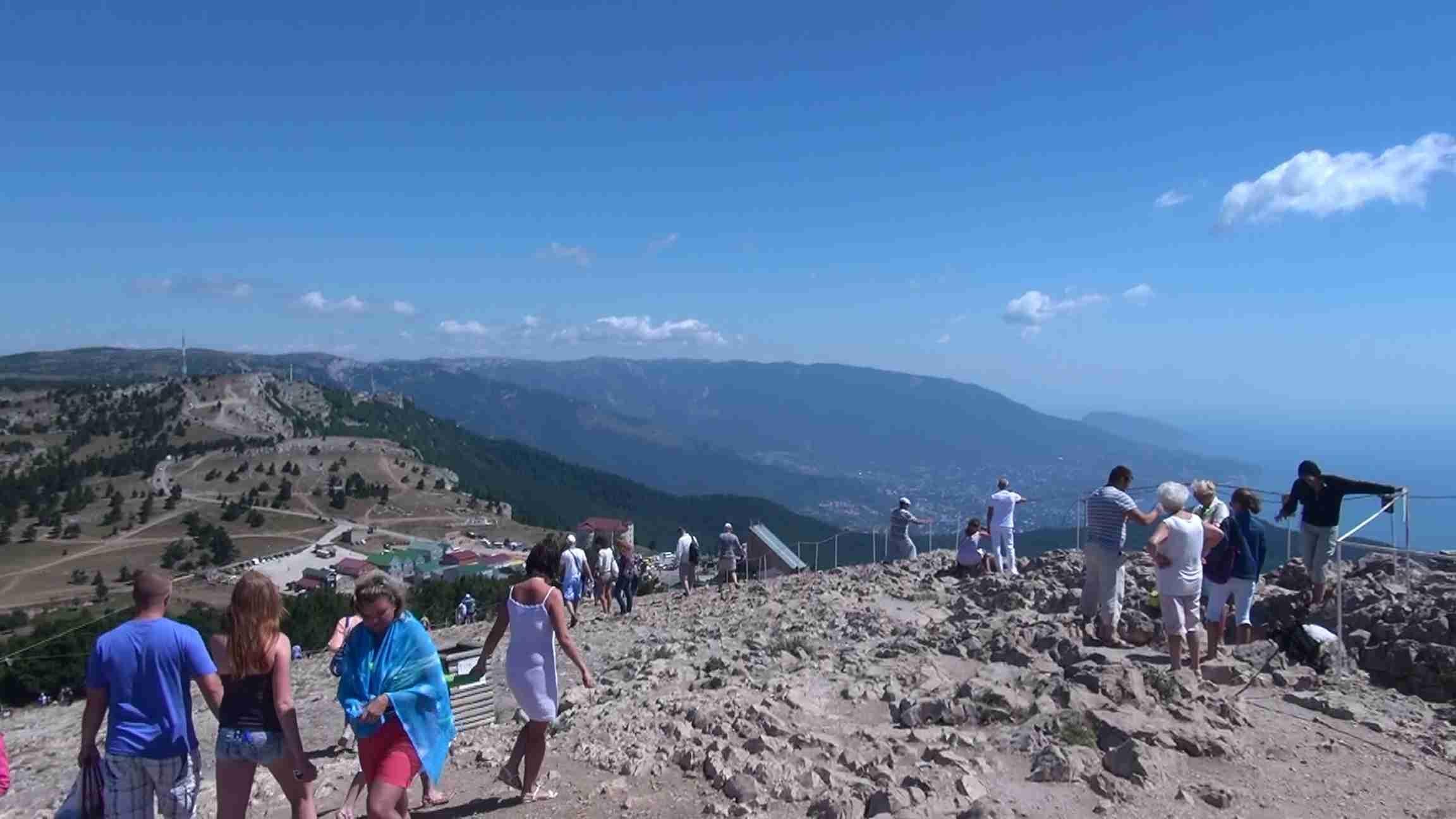 Гора Ай-Петри. Высота 1234м. над уровнем моря.